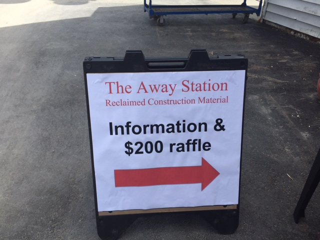 Information and Raffle Sign